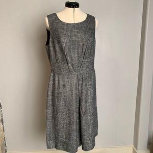 Brooks Brothers Grey Silk/Linen Dress, Sz 12